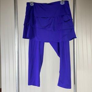 Lucky in love tennis Purple skirt-blue medium